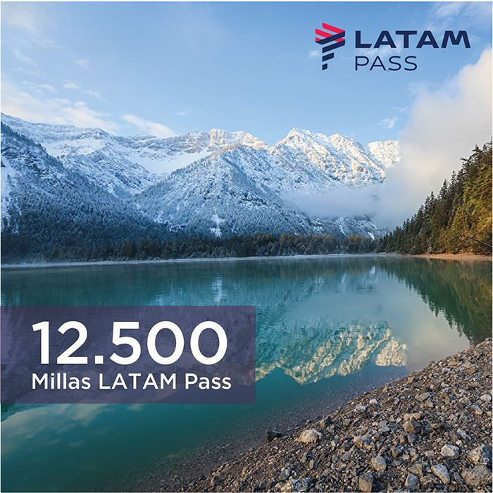 Imagen de 12.500 millas LATAM Pass